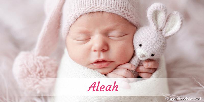 Name Aleah als Bild