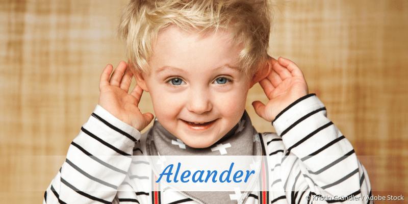 Name Aleander als Bild