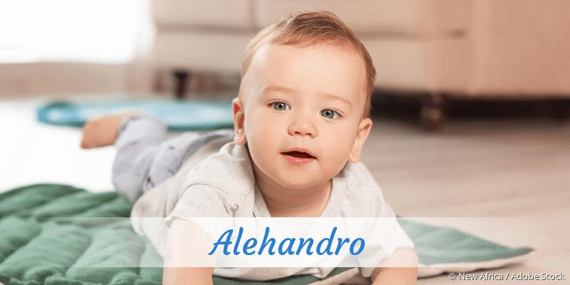 Name Alehandro als Bild