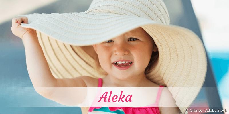 Name Aleka als Bild