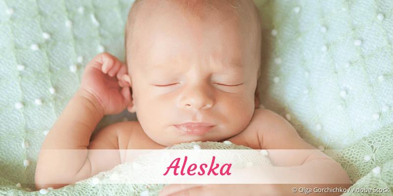 Name Aleska als Bild