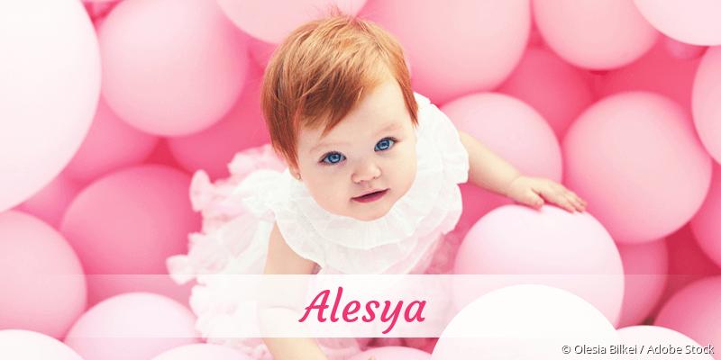 Name Alesya als Bild