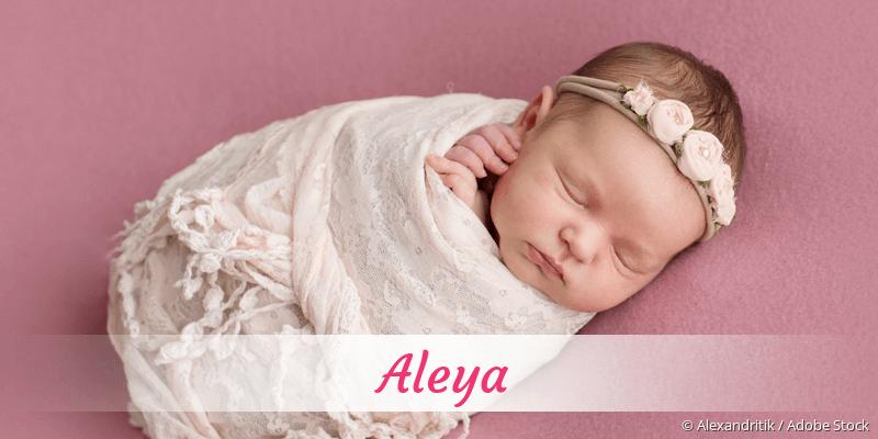 Name Aleya als Bild