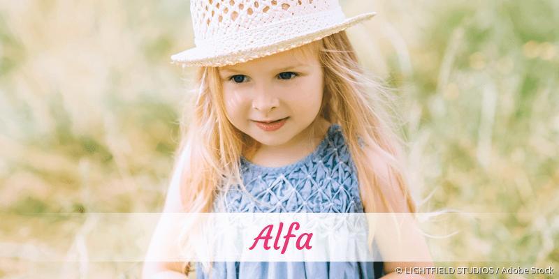 Name Alfa als Bild