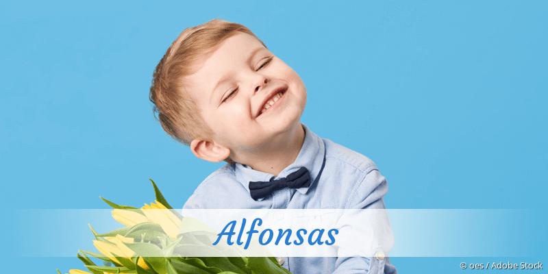 Name Alfonsas als Bild