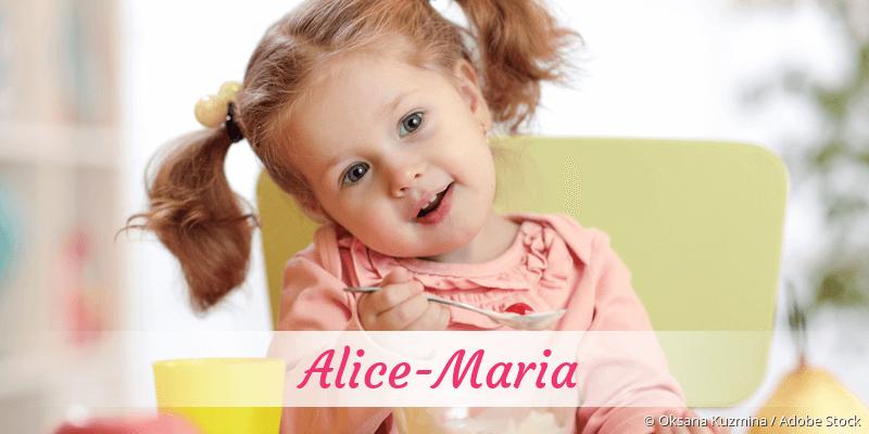 Name Alice-Maria als Bild