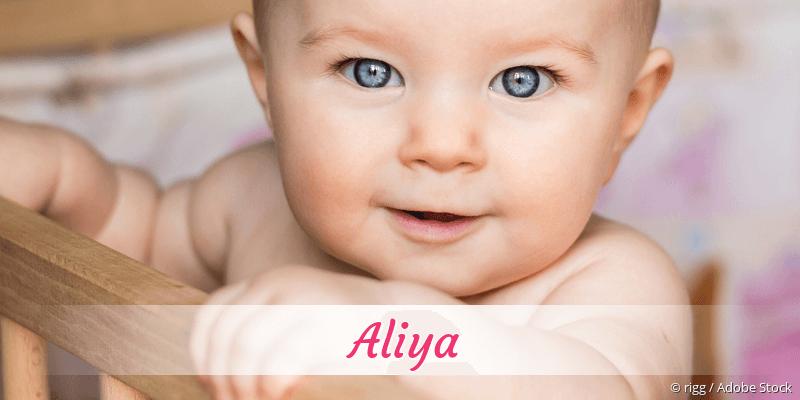 Name Aliya als Bild