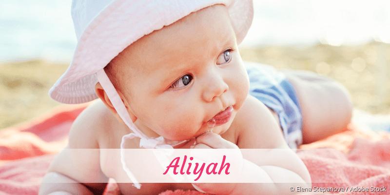 Name Aliyah als Bild