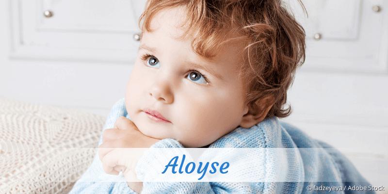 Name Aloyse als Bild