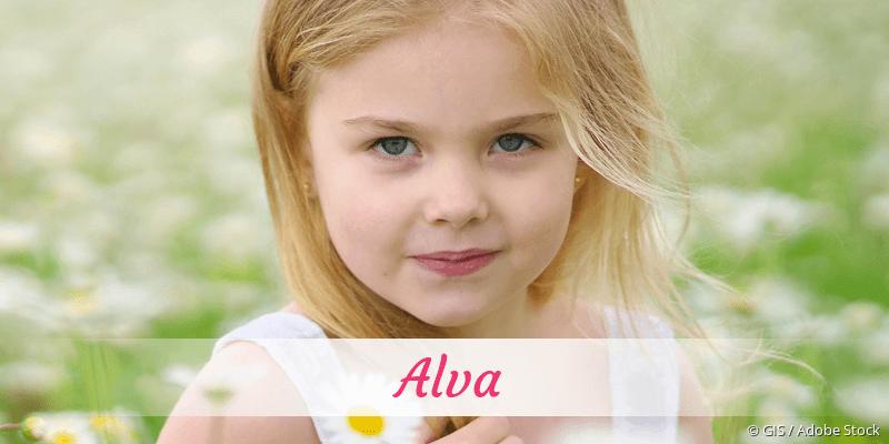 Name Alva als Bild