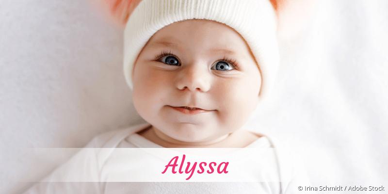 Name Alyssa als Bild