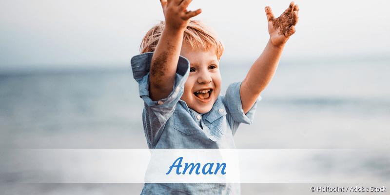 Name Aman als Bild