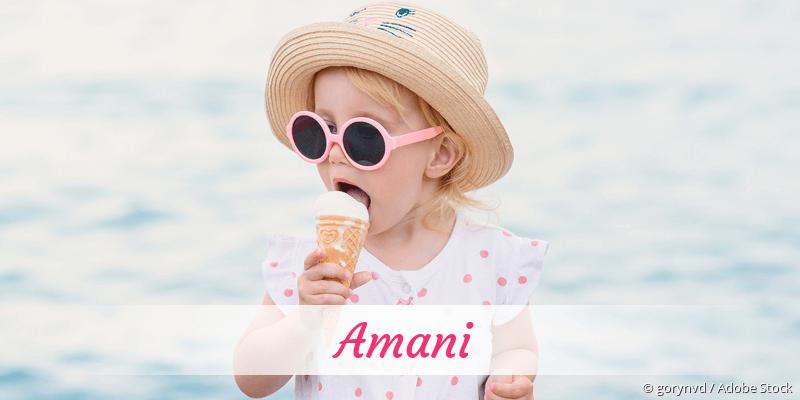 Name Amani als Bild