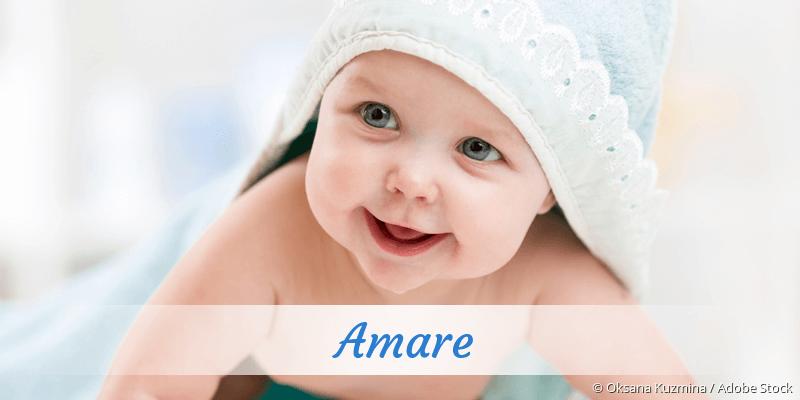Name Amare als Bild