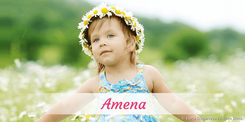 Name Amena als Bild