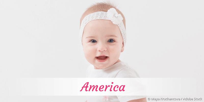 Name America als Bild