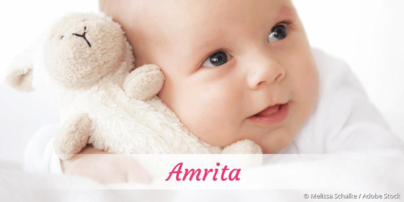 Name Amrita als Bild