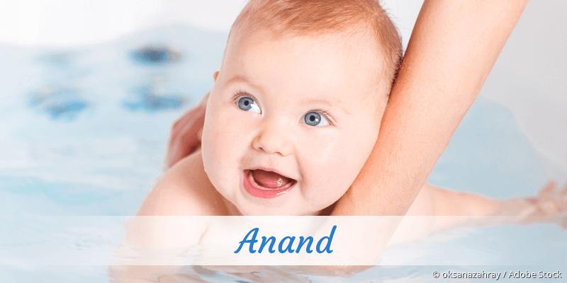 Name Anand als Bild