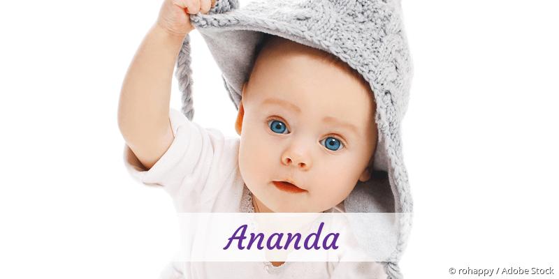 Name Ananda als Bild