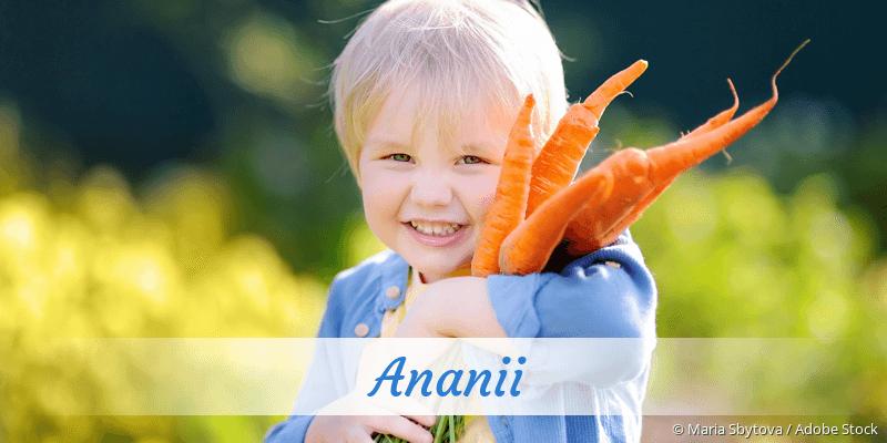 Name Ananii als Bild