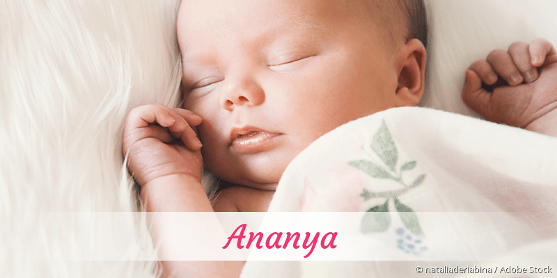 Name Ananya als Bild