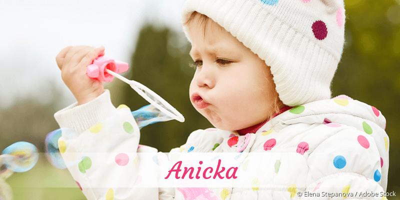 Name Anicka als Bild