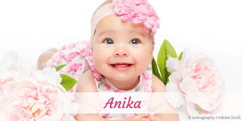 Name Anika als Bild