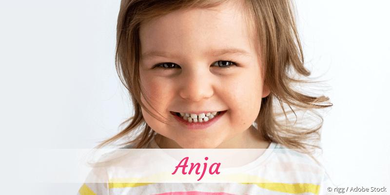 Name Anja als Bild