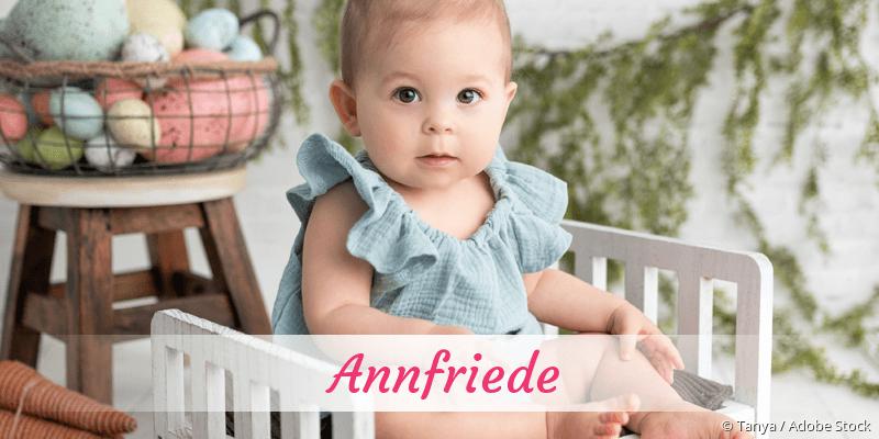 Name Annfriede als Bild