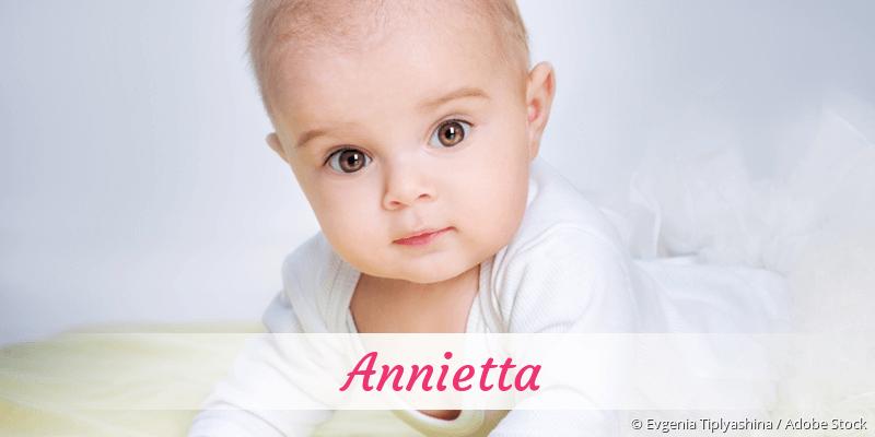 Name Annietta als Bild