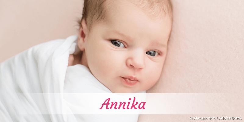 Name Annika als Bild