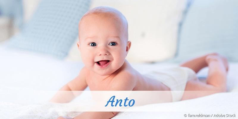 Name Anto als Bild