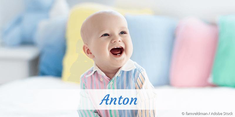 Name Anton als Bild