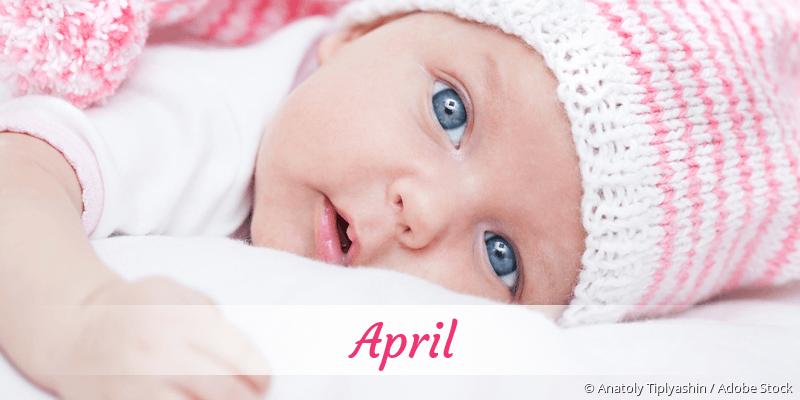 Name April als Bild