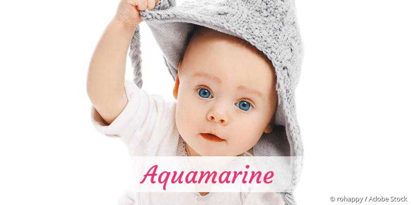 Name Aquamarine als Bild