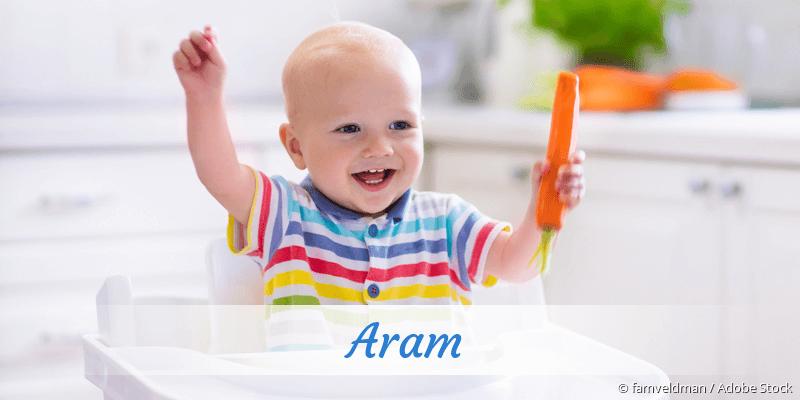 Name Aram als Bild