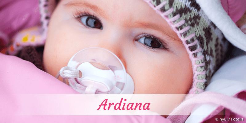 Name Ardiana als Bild