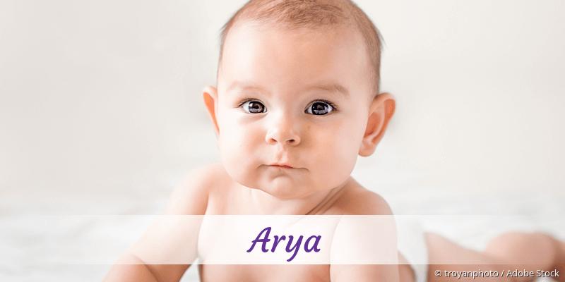 Name Arya als Bild