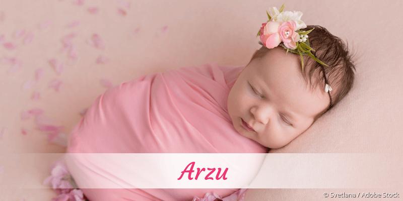 Name Arzu als Bild