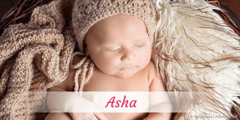 Name Asha als Bild