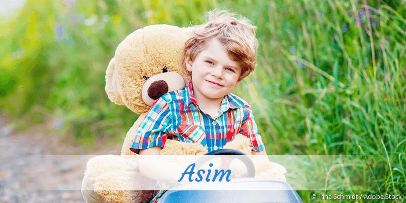 Name Asim als Bild