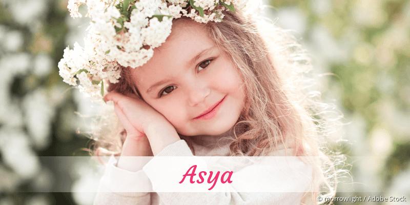 Name Asya als Bild
