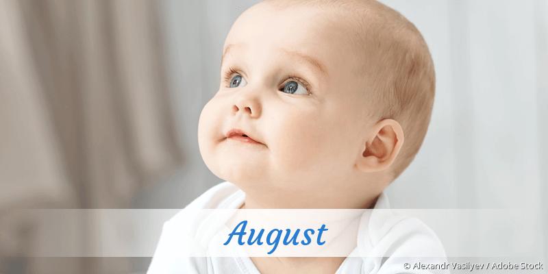 Name August als Bild