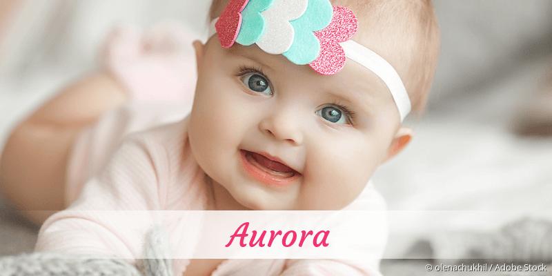 Name Aurora als Bild