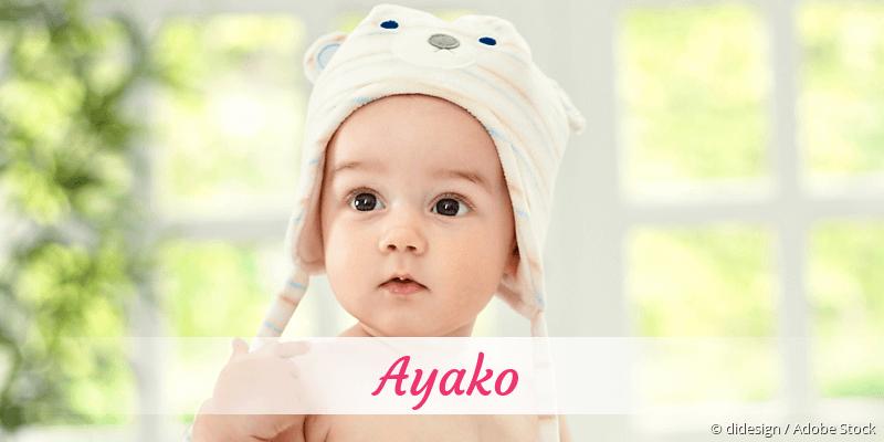 Name Ayako als Bild