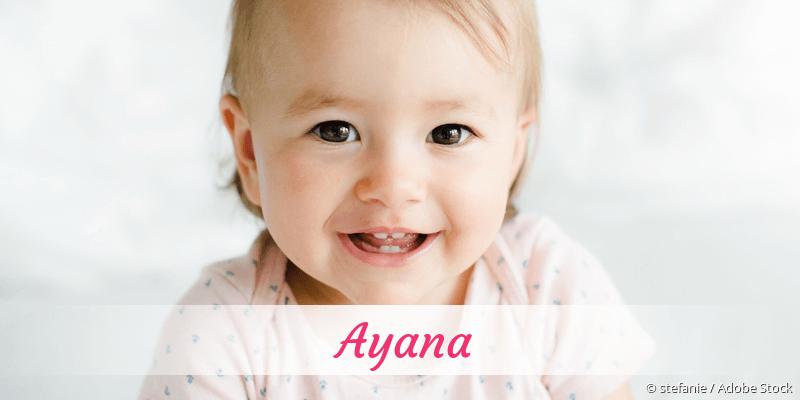 Name Ayana als Bild