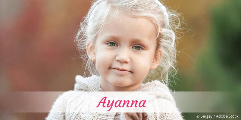 Name Ayanna als Bild