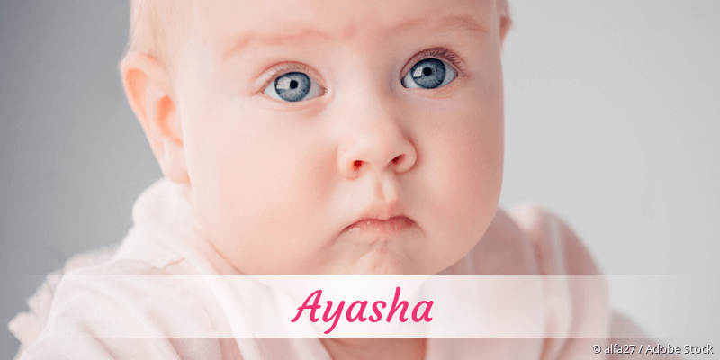 Name Ayasha als Bild