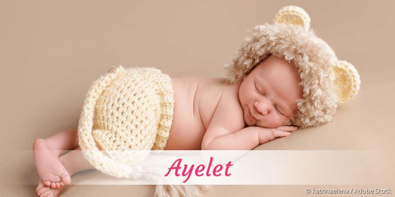 Name Ayelet als Bild