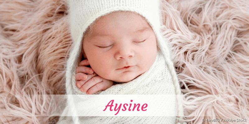 Name Aysine als Bild